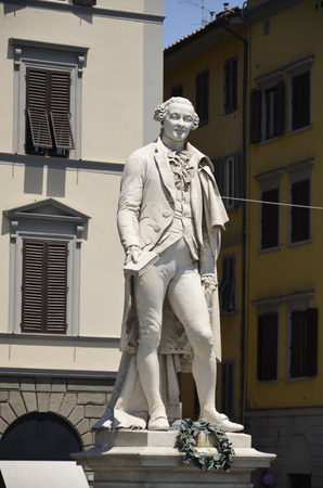 View of the beautiful statue dedicated to Carlo Goldoni Stock Photo