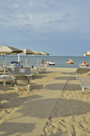 View of the beautiful Adriatic coast Stock Photo