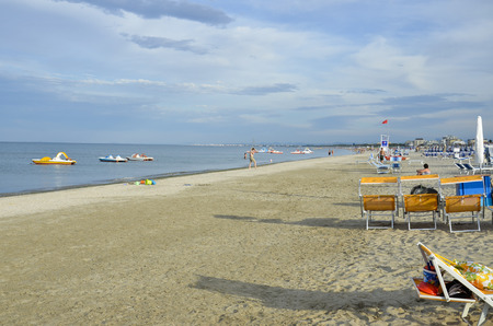 View of the beautiful shoreline of cervia