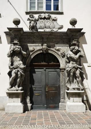 Splendid baroque for this old door, Slovenia