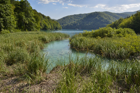 Characteristic lakes and waterfalls of the Croatian national park