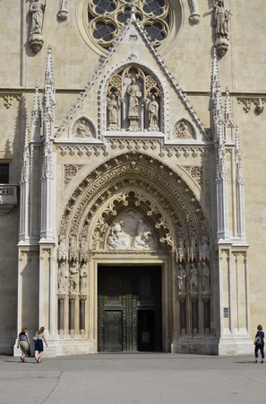 The entrance door of St. Stephens Cathedral, Croatia