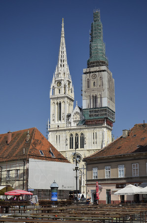 Beautiful view of St. Stephens Cathedral, Croatia