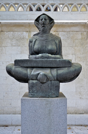 Statue of a woman with the look toward the future representative, the Story of Croatia