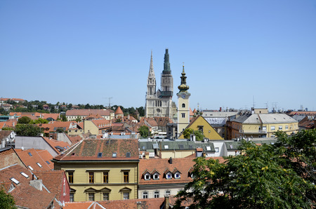 Panoramic view of the city of Zagreb, Croatia