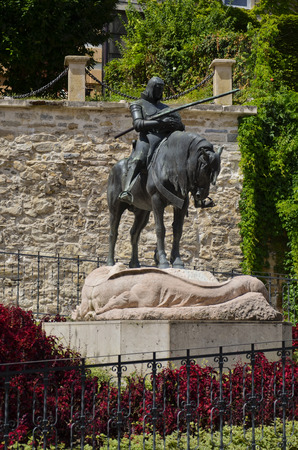 Statue representing the victory of St. George on the Dragon, Croatia