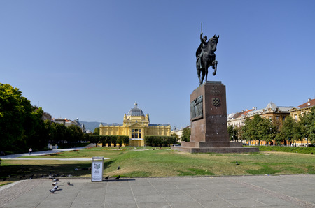 Stunning views of the square dedicated to King Tomislav, Croatia