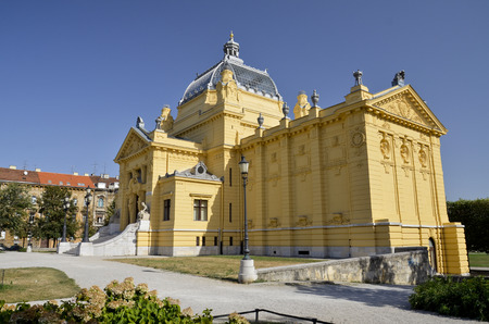 The magnificent building of the Art Gallery of Croatia Editorial