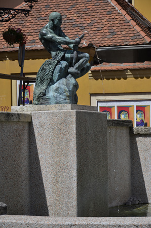 One of the many fountains in the city of Zagreb