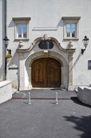 The main entrance to the gallery Klovicevi Dvori