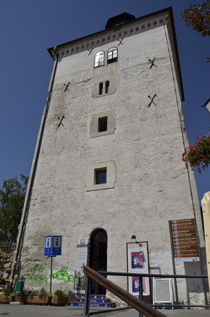 Historic tower of the city, a time to guard the door