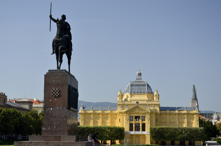 Stunning views of the square dedicated to King Tomislav, Croatia
