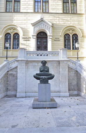 Main entrance of the University of Zagreb Editorial