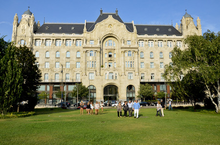 View of the luxurious hotel Gresham, Hungary. Editorial
