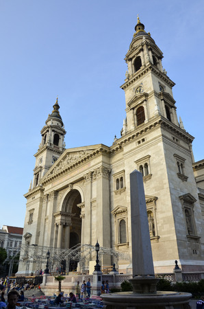 View of the beautiful St. Stephens Basilica, located in the heart of Pest.