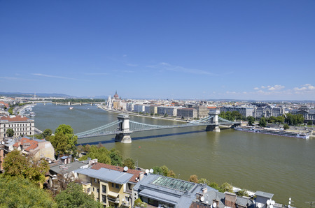 Magnificent views over the city Hungarian Budapest, Hungary.