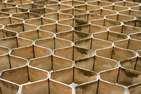 comb: Stone blocks forming Honey Comb pattern Stock Photo