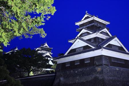 donjon: Kumamoto Castle at night time