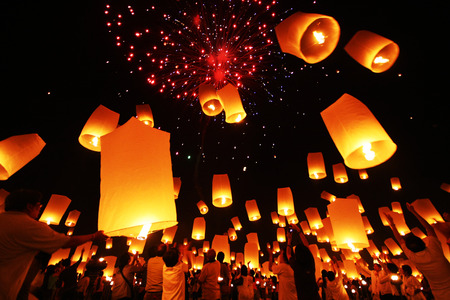 Loy Krathong, Yee Peng, the Festival of Lights in Thailand