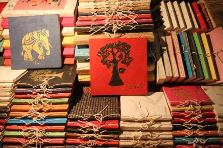 souvenir traditional: Laos traditional souvenir book Stock Photo