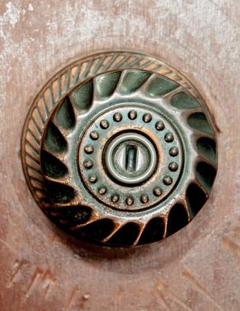 knob: Old door knob and aluminum