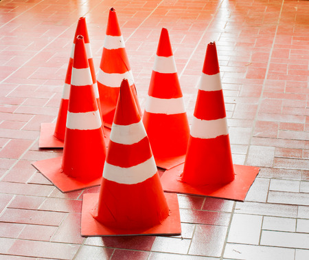 traffic   cones: Traffic cones are made from used paper recycle