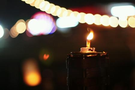 hope: Oil lamps in loy kratong festival