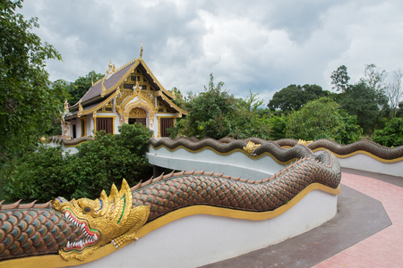 Northern temple Thailand at Buddha  Lanna Chiangmai Province