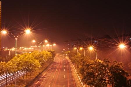 straat licht 's nachts