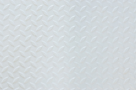 plating: metal plate painted white color background texture. Stock Photo