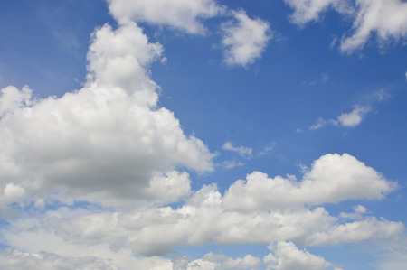 the firmament: The Blue sky and white cloud