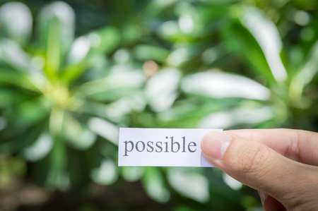 Handle white paper with text possible, business success concepts Stock Photo