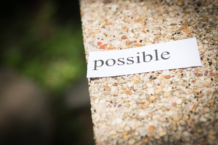 The white paper says possible on the floor., business success concepts Stock Photo