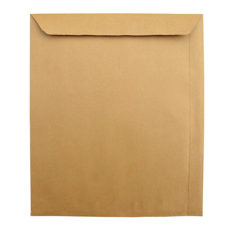 front house: brown envelope. on the white background. isolated.