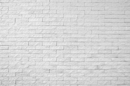 White brick wall pattern background Banco de Imagens