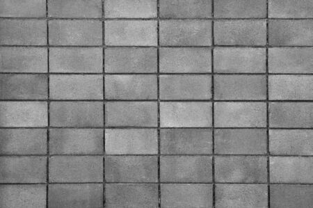 Closeup of grey block wall use for background