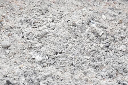 Gray ash texture background after cook