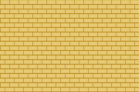 The luxury golden realistic seamless brick wall texture. Illustration background.