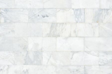 White marble wall pattern with high resolution. Brick wall made from marble use as texture and background.