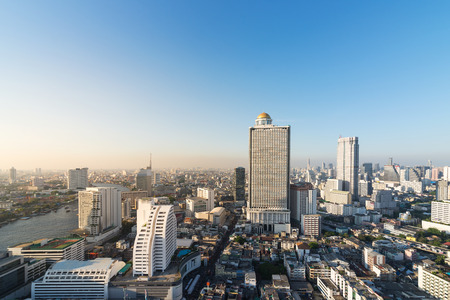 Cityscape with skyscrapers, Bangkok,Thailand Stock fotó