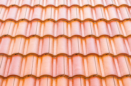 rooftop: red rooftop pattern Stock Photo