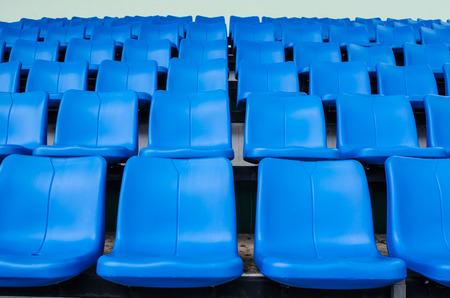 temporary: blue chair Temporary stadium