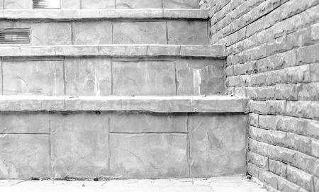 monotone of stars and brick wall photo