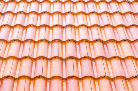 small roof: small red-orange roof tiles