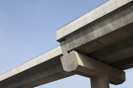 chattel: Pillars support the weight of concrete used for road Stock Photo