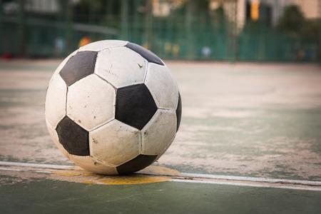 old ball at kick off point Imagens