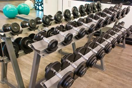 heaviness: fitness room Stock Photo
