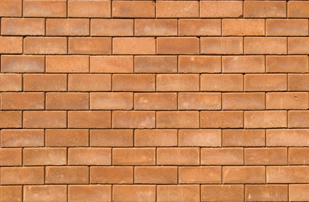 red brick wall texture in horizontal view photo