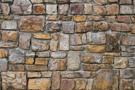 old stone wall: Pattern of old stone Wall Surfaced Stock Photo