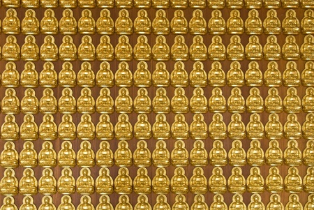 Buddha temple wall in Wat-Leng-Noei-Yi2 at Bang-Bua-Thong, Nonthaburi, Thailand Stock Photo - 8681644